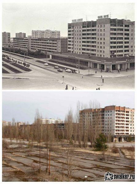 фото до и после припять